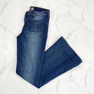 Guess Patch Pocket Destroyed Flare Jeans
